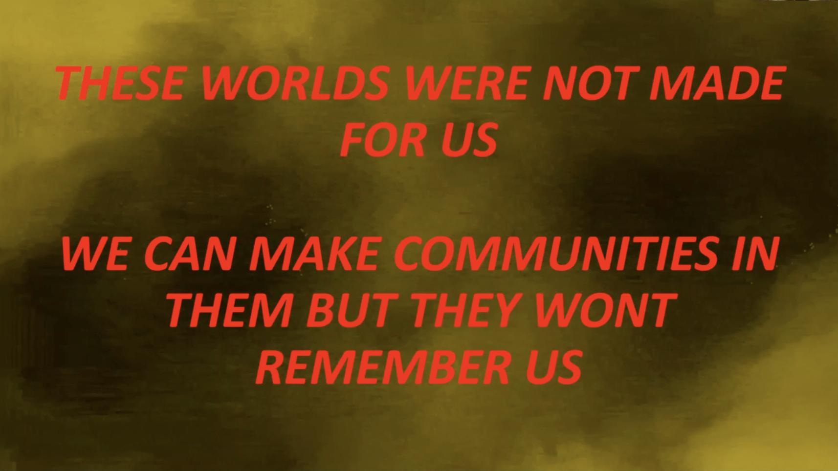 screenshot from a presentation by RESURRECTION LANDS 2020 by Danielle Braithwaite Shirley